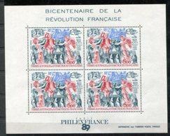 TAAF  Yv.   BF1    ** MNH  Révolution Française  Cote  12,5  Euro TBE - Blocs-feuillets