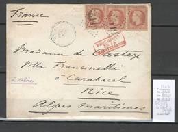 Lettre - Yvert 31 X 3 - GC 5119 LE CAIRE - Egypte - Pour Nice - Paquebots De La Méditerrannée - Postmark Collection (Covers)