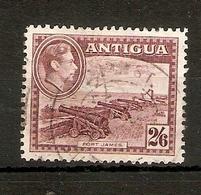 ANTIGUA 1942 2s 6d MAROON SG 106a FINE USED Cat £22 - Antigua & Barbuda (...-1981)