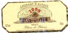 Etiket Etiquette - Vin - Wijn - Crémant D'Alsace - Jean Geiler -  Brut - 2000 - Etiquettes