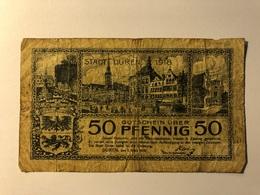 Allemagne Notgeld Duren 50 Pfennig - [ 3] 1918-1933 : République De Weimar