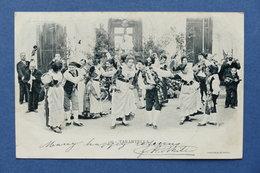 Cartolina Costumi - Napoli - Tarantella - 1902 - Cartoline