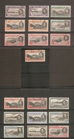 ASCENSION 1938 - 1953 ALL DIFFERENT VALUES TO 2s 6d INCLUDING ADDITIONAL PERFORATION VARIETIES FINE USED Cat £108+ - Ascension