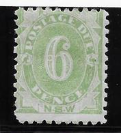 New South Wales - Nouvelles Galles Du Sud Taxe N°6 - Neuf * Avec Charnière - TB - Mint Stamps