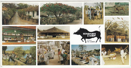 Tendaba Camp Postcard Travelled 1997 Serekunda Pmk B181101 - Gambia