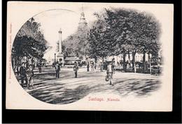 CHILE Santiago Alameda Ca 1905 OLD POSTCARD 2 Scans - Cile