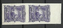 EL SALVADOR 1891 Michel 41 ESSAY Plate PROOF As A Vertical Pair (*) - El Salvador