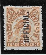 Nouvelle Zélande Service N°30 - Neuf * Avec Charnière - TB - Officials