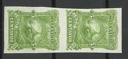 EL SALVADOR 1891 Michel 39 ESSAY Color PROOF As A Vertical Pair (*) - El Salvador