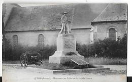 QUEND  MONUMENT AUX MORTS  DES POILUS DE LA GRANDE GUERRE     DEPT 80 - Quend
