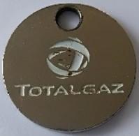 Jeton De Caddie - TOTALGAZ - En Métal - - Trolley Token/Shopping Trolley Chip