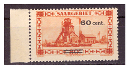 SAAR/SARRE - 1930 - FRANCOBOLLO DEL 1926/1927  SOPRASTAMPATO. - MNH** - 1920-35 Società Delle Nazioni