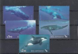 Ross Deps (BBK) Michel Cat.No. Mnh/** 119/123 Whale - Ross Dependency (New Zealand)
