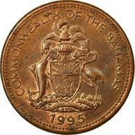 Monnaie, Bahamas, Elizabeth II, Cent, 1995, Franklin Mint, TTB, Copper Plated - Bahamas