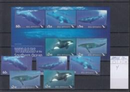 Ross Deps (BBK) Michel Cat.No. Mnh/** 119/123 + Sheet 4 Whale - Ross Dependency (New Zealand)