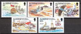 Alderney 1991 Automation Of Beacons On The Casquets., Ships, Coast, , Mi 49-53, MNH(**) - Alderney