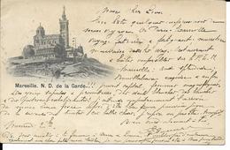 MARSEILLE   N. D. DE LA GARDE      ECRITE 1897 - Notre-Dame De La Garde, Lift