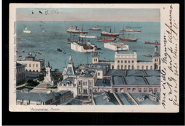 CHILE Valparaiso Puerto 1908 OLD POSTCARD 2 Scans - Cile