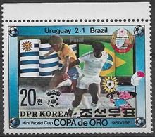 Corée Du Nord, Neufs Sans Charniére,  Coup D'or De Football 1980, à Montevideo MINT NEVER HINGED - Corée Du Nord
