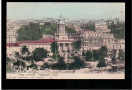 CHILE Valparaiso  Plaza Victoria Ca 1910 OLD POSTCARD 2 Scans - Cile