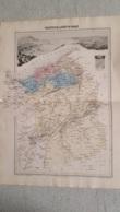 CARTE ATLAS MIGEON 1888  DOUBLE FORMAT  PROVINCE OU DPT D'ORAN GRAVE PAR LECOCQ ET BARBIER FORMAT 35 X 48 CM - Geographische Kaarten
