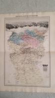 CARTE ATLAS MIGEON 1888  DOUBLE FORMAT  PROVINCE OU DPT DE CONSTANTINE GRAVE PAR LECOCQ ET BARBIER FORMAT 35 X 48 CM - Geographical Maps