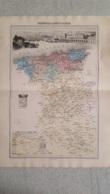 CARTE ATLAS MIGEON 1888  DOUBLE FORMAT  PROVINCE OU DPT D'ALGER GRAVE PAR LECOCQ ET BARBIER FORMAT 35 X 48 CM - Geographische Kaarten