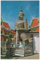 GIANT GUARDIAN AT THE TEMPLE OF DAWN WAT ARUN, BANGKOK, THAILAND - Thailand