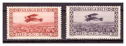 SAAR/SARRE - 1928 - POSTA AEREA. AEROPLANO IN VOLO. SERIE COMPLETA. -  MNH** - 1920-35 Società Delle Nazioni