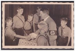 Dt- Reich (004955) Propagandakarte Adolf Hitler Begrüst HJ Jungend, Blaco Gestempelt Mit 3 Verschiedenen SST - Briefe U. Dokumente