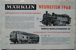 MÄRKLIN H0 Neuheiten Katalog 1968 True Vintage Brochure Preise - Spur HO