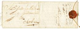 1703 Lettre Avec Texte De CADIX Pour ANVERS (BELGIQUE). Fermeture Avec Cachet CIRE + Cordelette. TTB. - Poststempel (Briefe)