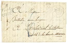 ALLIER : 1828 Double Cursive 3 VICHY/CUSSET. Indice 18. TTB. - Poststempel (Briefe)