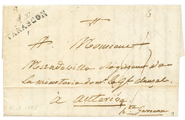 ARIEGE : 1825 Double Cursive 8 AX/ TARASCON. Indice 19. TB. - Poststempel (Briefe)