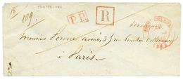 HERAULT : T.14 MONTPELLIER En Rouge + P.P + R Encadré Sur Enveloppe RECOMMANDEE Pour PARIS. TB. - Poststempel (Briefe)