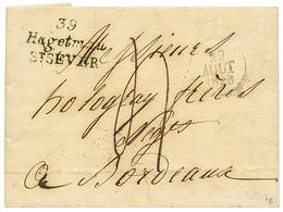 LANDES : 1828 Double Cursive 39 HAGENAU/ST SEVER. Indice 18. TTB. - Poststempel (Briefe)