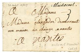 LOIRE INF. : 1747 MACHECOUL Manuscrit (Lenain 1). Indice 19. Superbe. - Poststempel (Briefe)