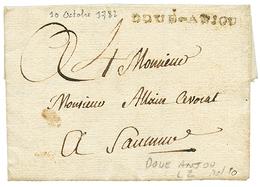 MAINE ET LOIRE : 1782 DOUE-ANJOU (Lenain 2). Indice 20. TB. - Poststempel (Briefe)