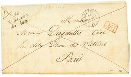 MAINE ET LOIRE : 1847 Cursive 47 St LAURENT/des AUTELS + T.15 ANCENIS + P.P Rouge. TTB. - Poststempel (Briefe)
