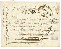 """""""THIONVILLE Pour La MARTINIQUE """" : 1784 Cachet Rare P.PAYE / THION (indice 26) + Cachet Trés Rare FRANCE (Jamet N°19) Su - Poststempel (Briefe)"""