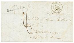 NORD : 1840 Cursive 57 HAUBOURDIN + T.14 LILLE. Indice 20. TB. - Poststempel (Briefe)