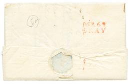 HTE SAONE : 1819 DEB.69 GRAY Rouge Au Verso D'une Lettre De PARIS. TB. - Poststempel (Briefe)