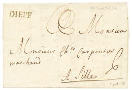 SEINE INF. : 1736 DIEPE (Lenain 1). Indice 19. Superbe. - Poststempel (Briefe)
