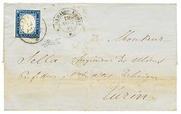 """S. MARTINO DI LANTOSCA ( ST MARTIN LANTOSQUE) Via UTELLE "" : 1858 Cachet Rarissime S.MARTINO LANTA D. 12 Nov 58 + SARDA - Poststempel (Briefe)"