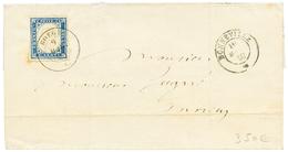 BOEGE : 1860 SARDAIGNE 20c TB Margé Obl. Cachet Sarde BOEGE + BONNEVILLE , Pour ANNECY. RARE. TTB. - Poststempel (Briefe)
