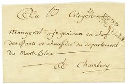 """BONNEVILLE : An 9 P.99.P BONNEVILLE Sur Lettre Avec Texte Daté """"MARIGNIER"""". TB. - Poststempel (Briefe)"""