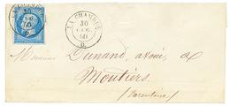 1860 FRANCE 20c(n°14) Obl. Cachet Sarde LA CHAMBRE Sur Lettre Pour MOUTIERS. Trés Rare. Superbe. - Poststempel (Briefe)