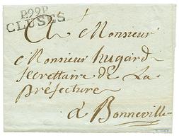 """CLUSES : 1812 P.99.P CLUSES Avec Texte(pd) Daté """"COURDURIER"""". Rare. Superbe. - Poststempel (Briefe)"""