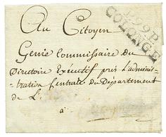 """COLONGE : An 7 P.99.P COLONGE Sur Lettre Avec Texte Daté """"CHEVRIER Canton De VIRI"""". RARE. TB. - Poststempel (Briefe)"""