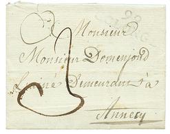 """COLONGE : 1814 99 COLONGE Frappe Un Peu Faible Avec Texte Daté """"FARGE"""". Rare. B/TB. - Poststempel (Briefe)"""